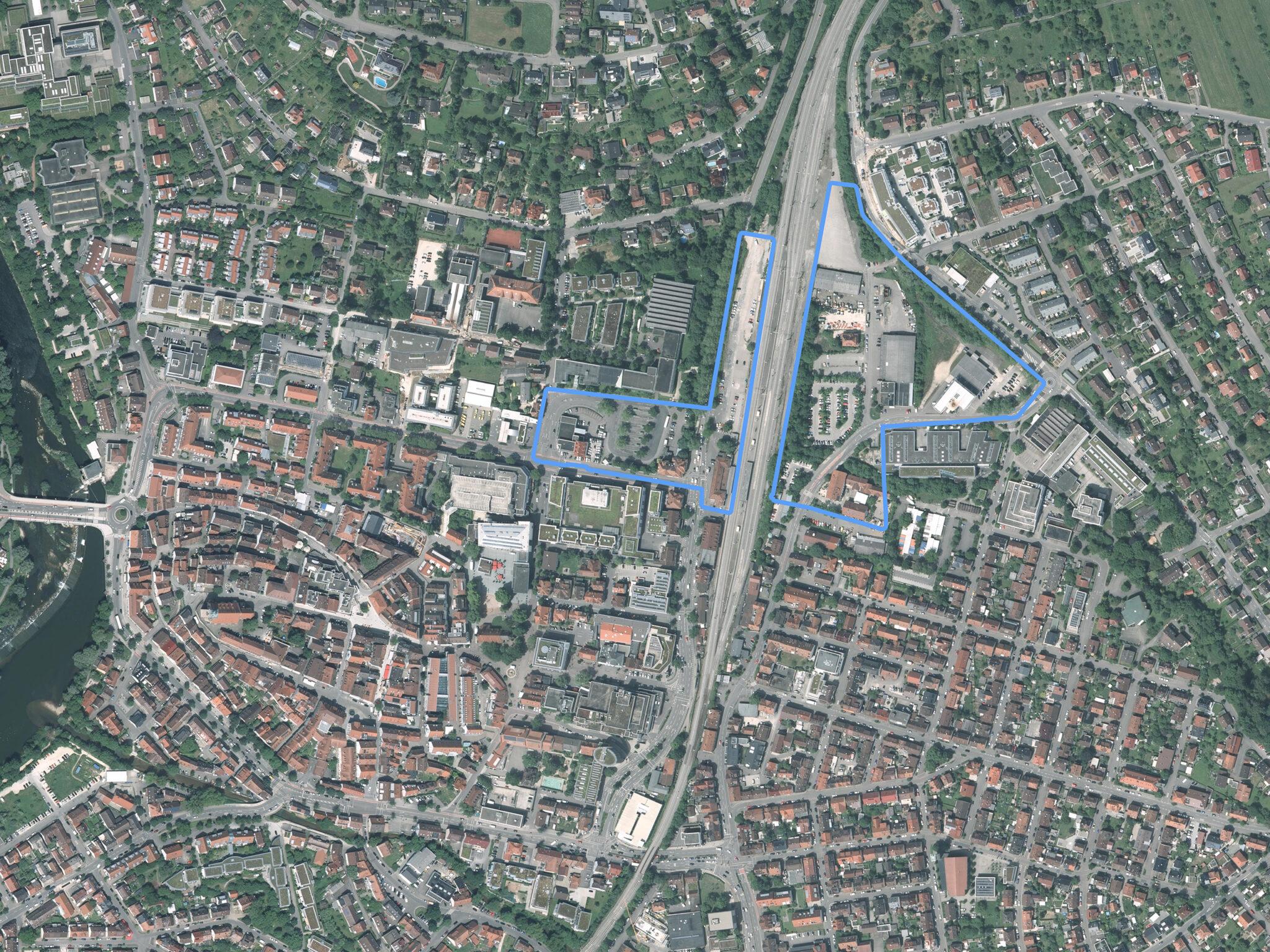 Luftbild Bahnstadt Nürtingen