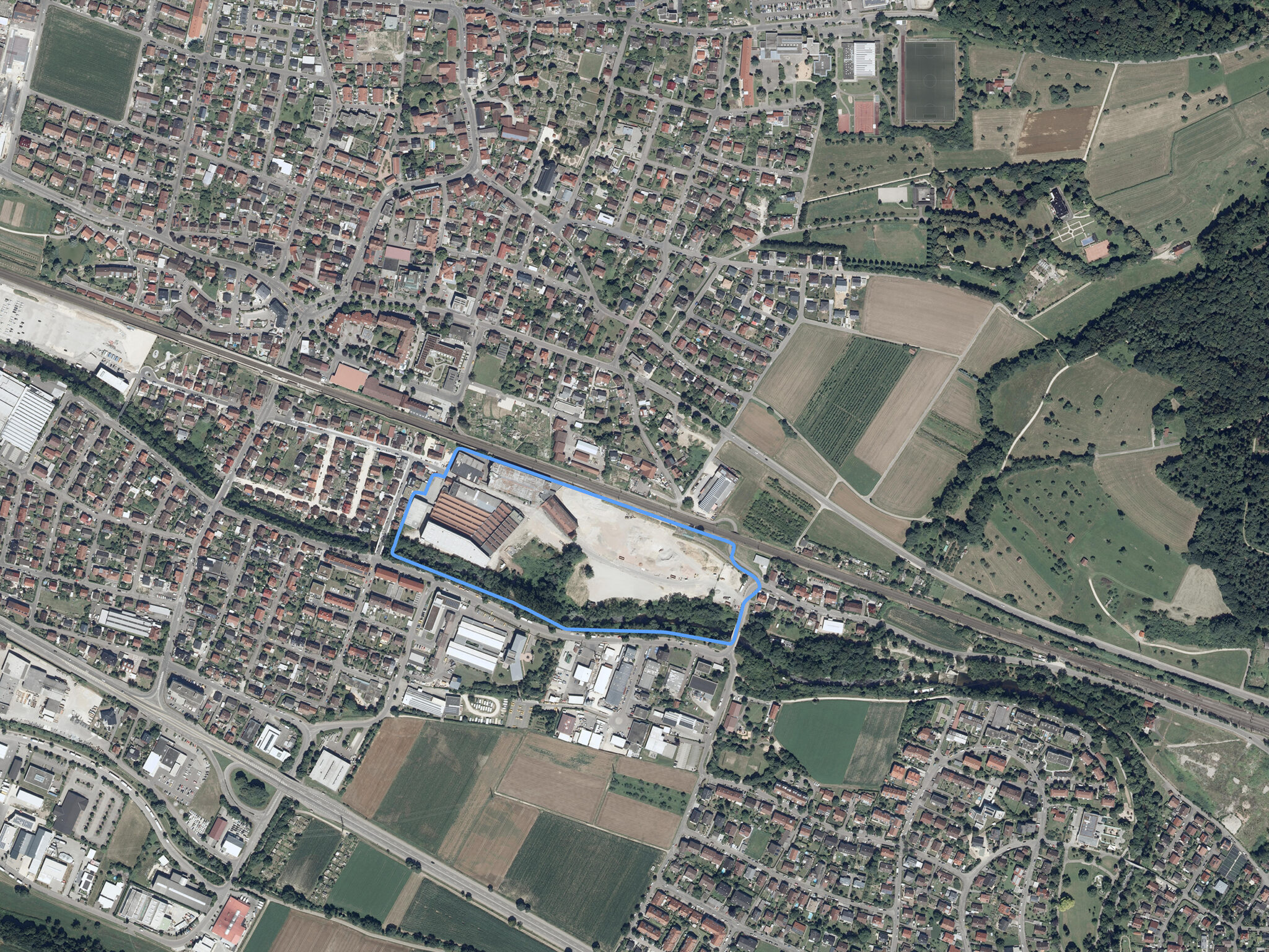 Luftbild Quartier Mühlkanal Salach