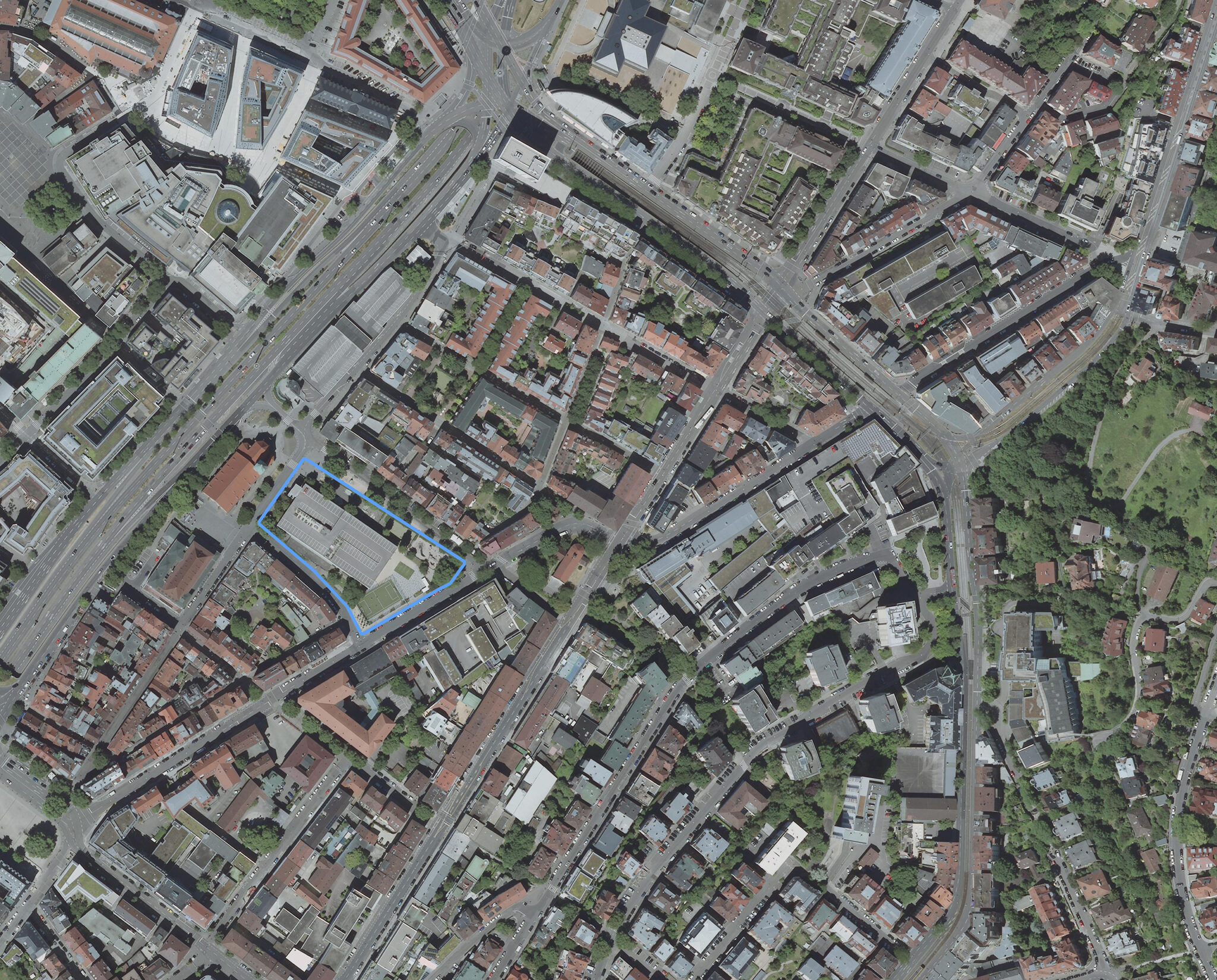 Luftbild des Projektgeländes. Bild: Geobasisdaten LGL, www.lgl-bw.de