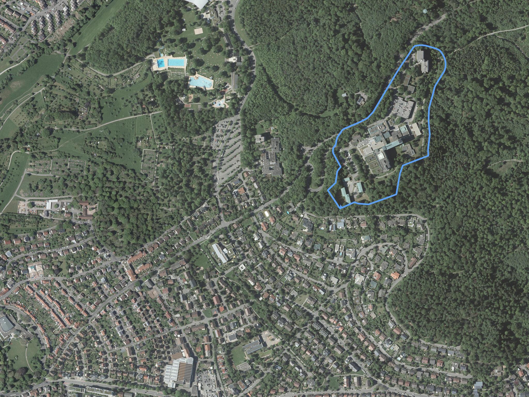 Luftbild Krankenhaus Areal Sindelfingen