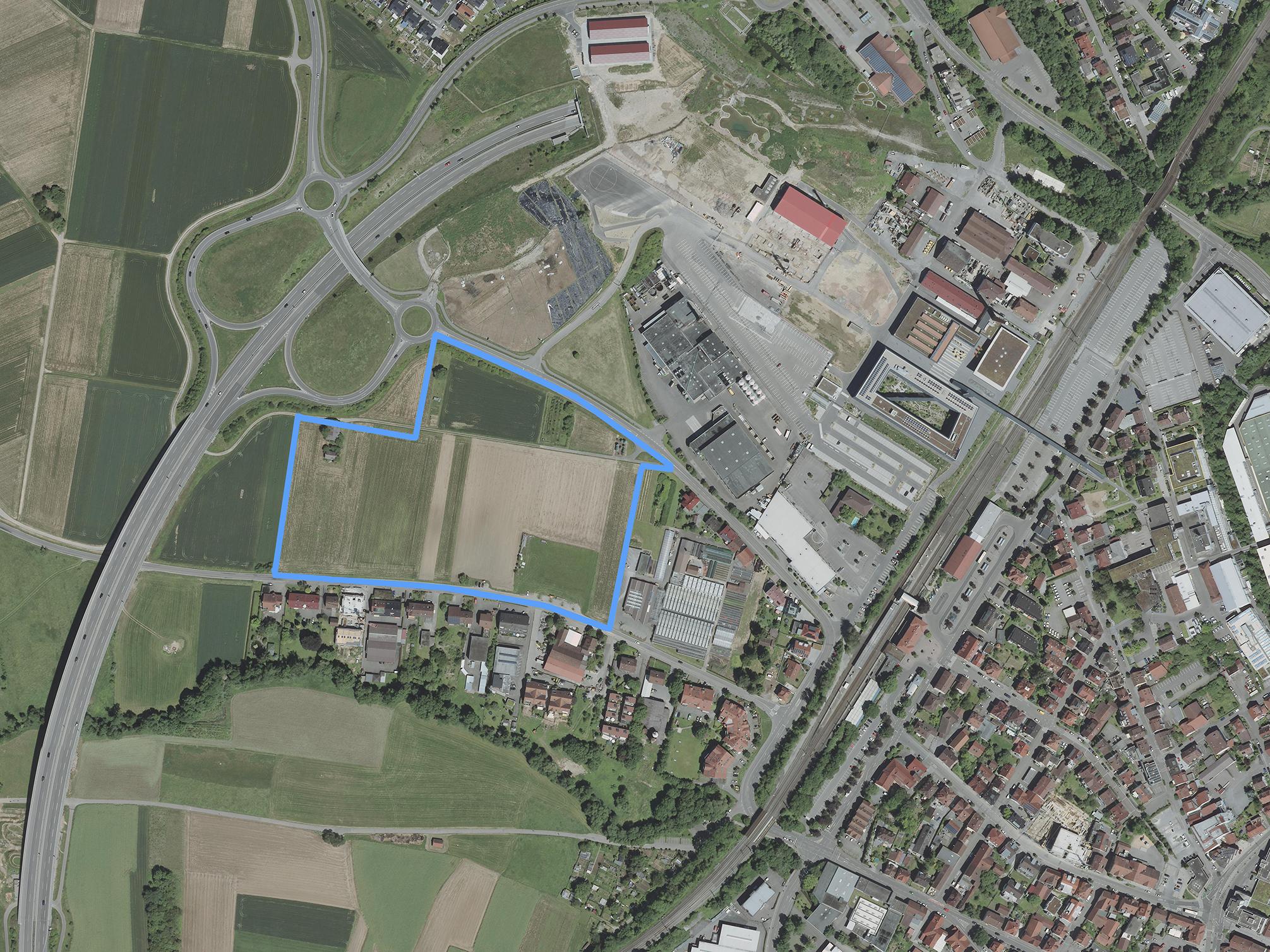 Luftbild Produktives Stadtquartier Winnenden