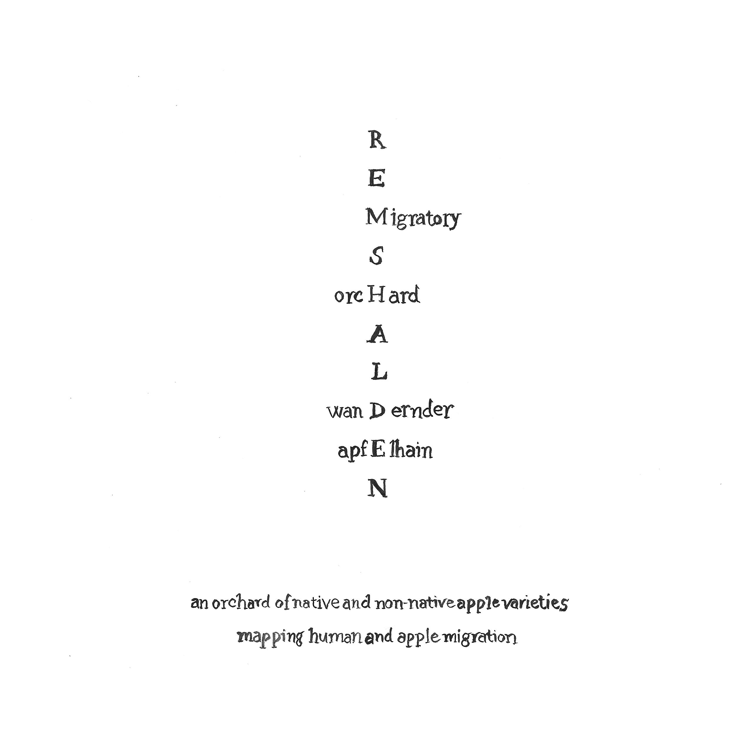 Alec Finlay, Kalligraphiegedicht