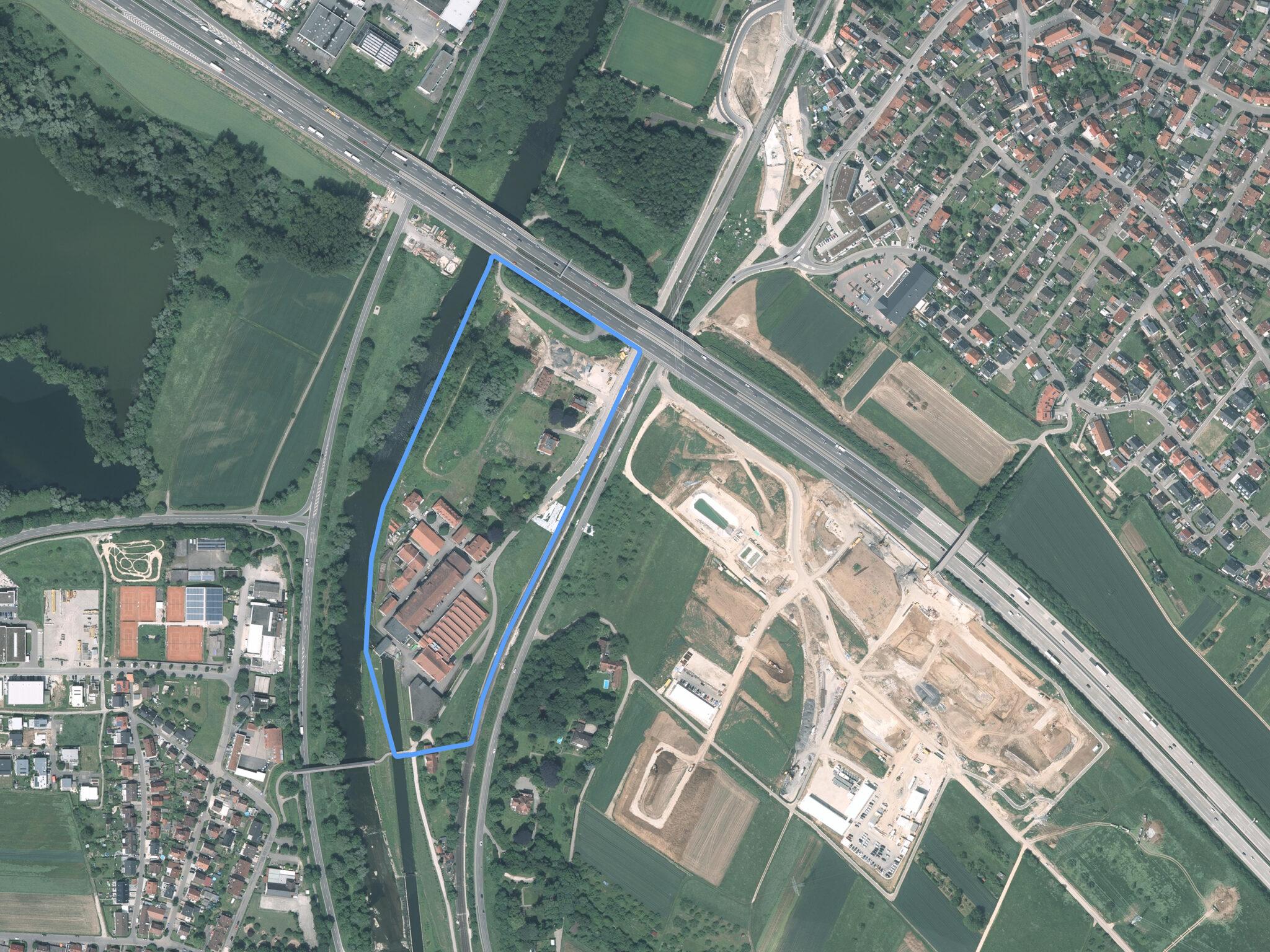 Luftbild Neckarspinnerei