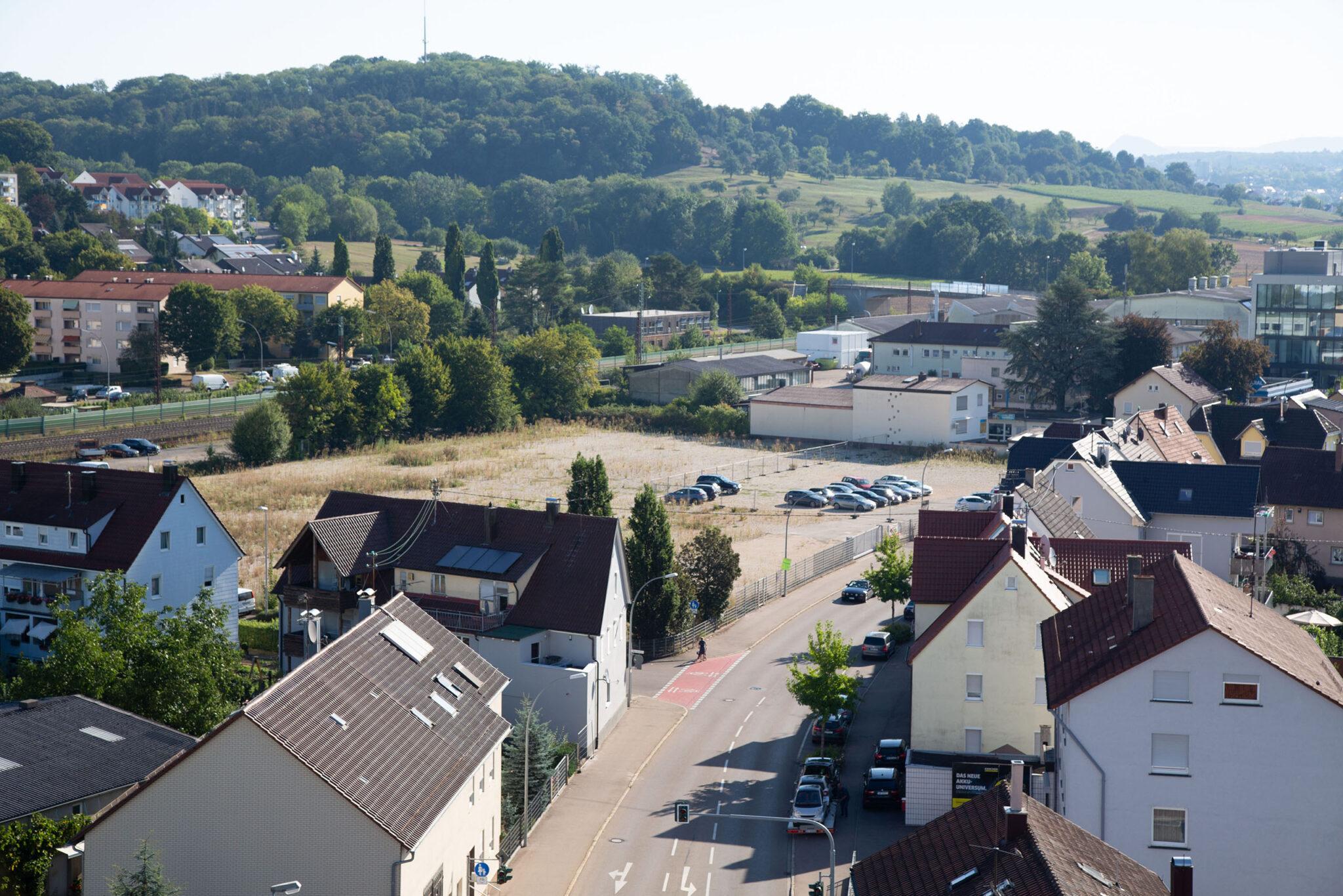 Ansicht des Spinnweberei Areals von der Ulmer Straße