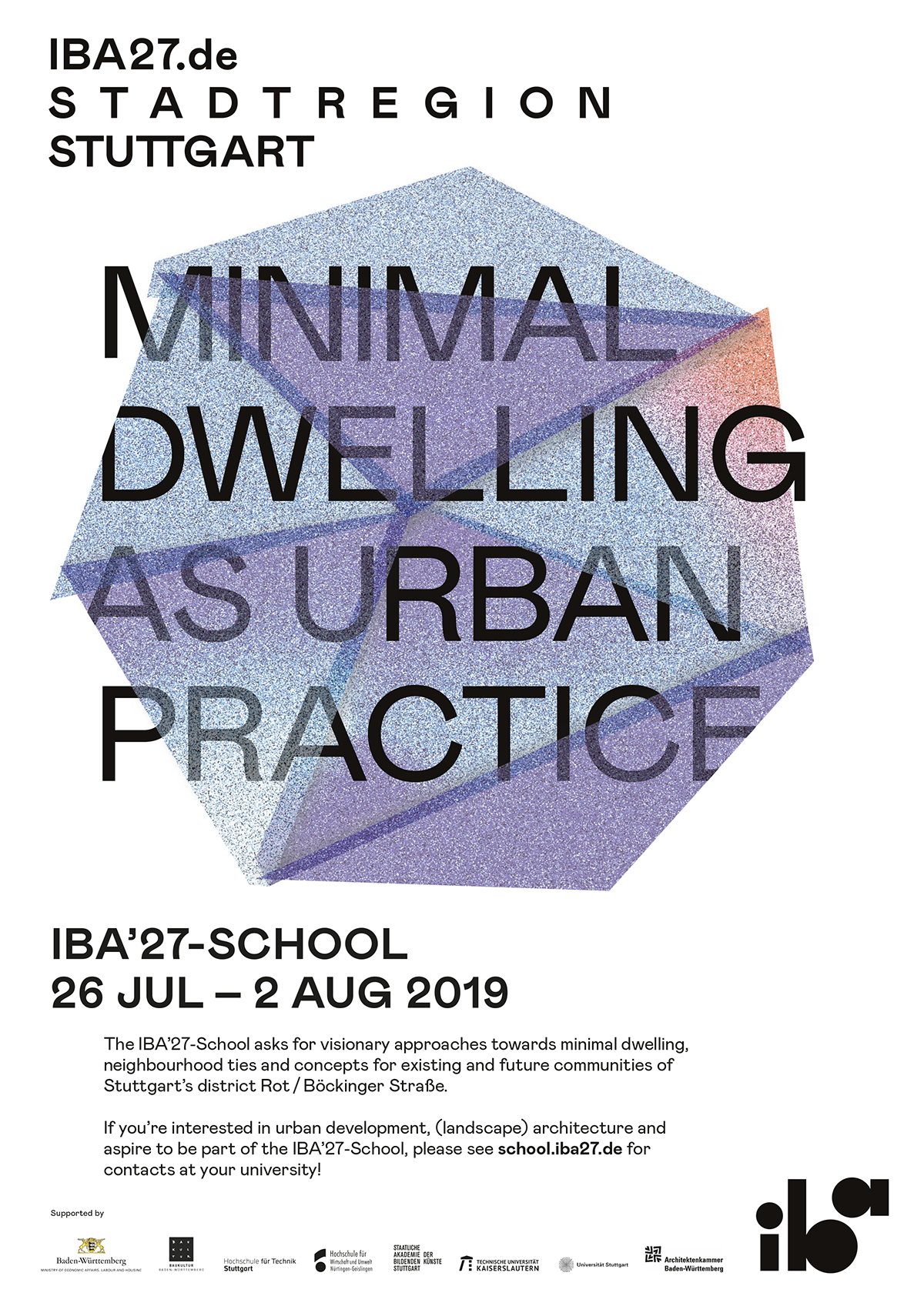 Aufruf IBA'27-School 2019