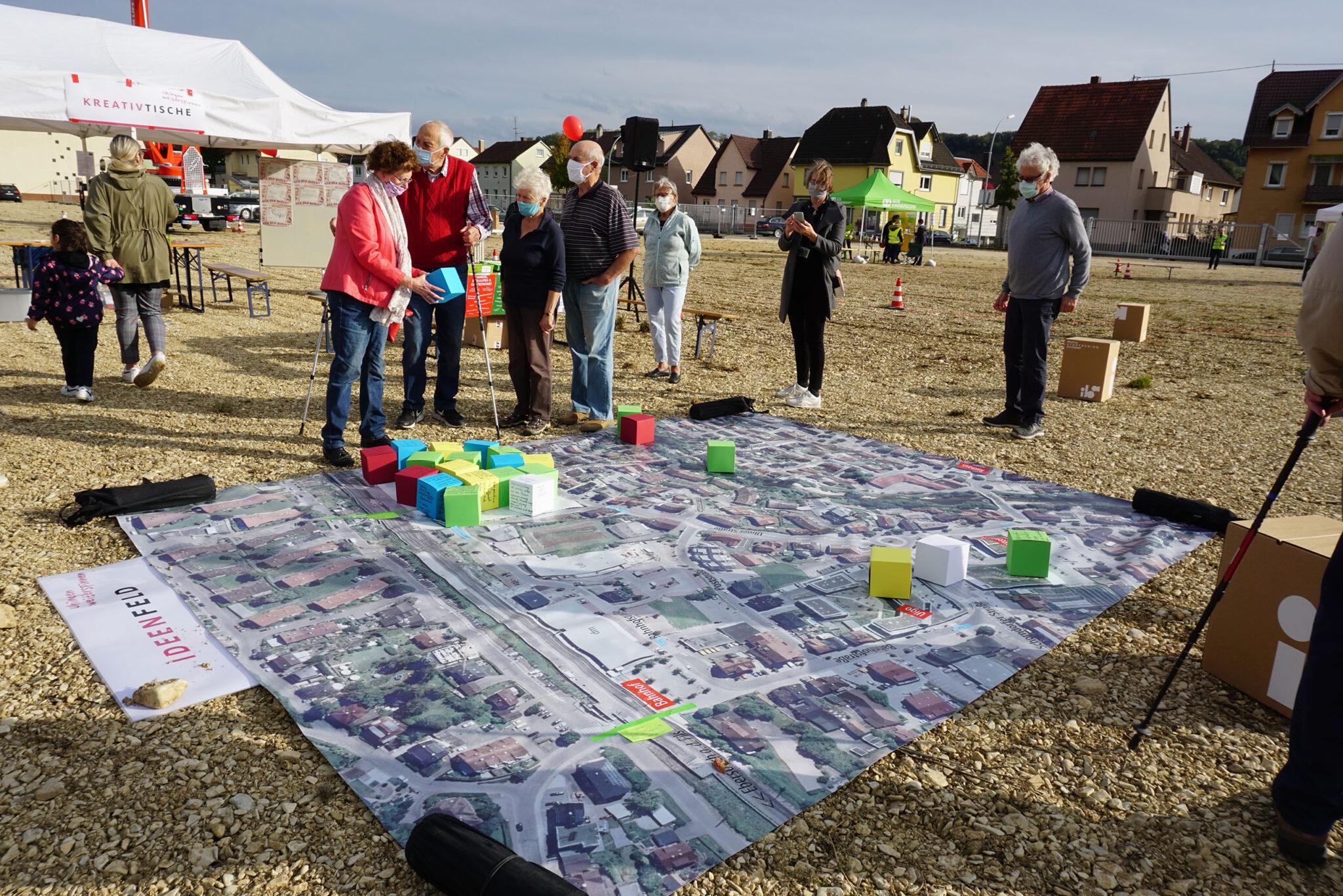 Bürgerbeteiligung »Uhingen weiterspinnen« auf dem Areal. Bild: Stadtverwaltung Uhingen