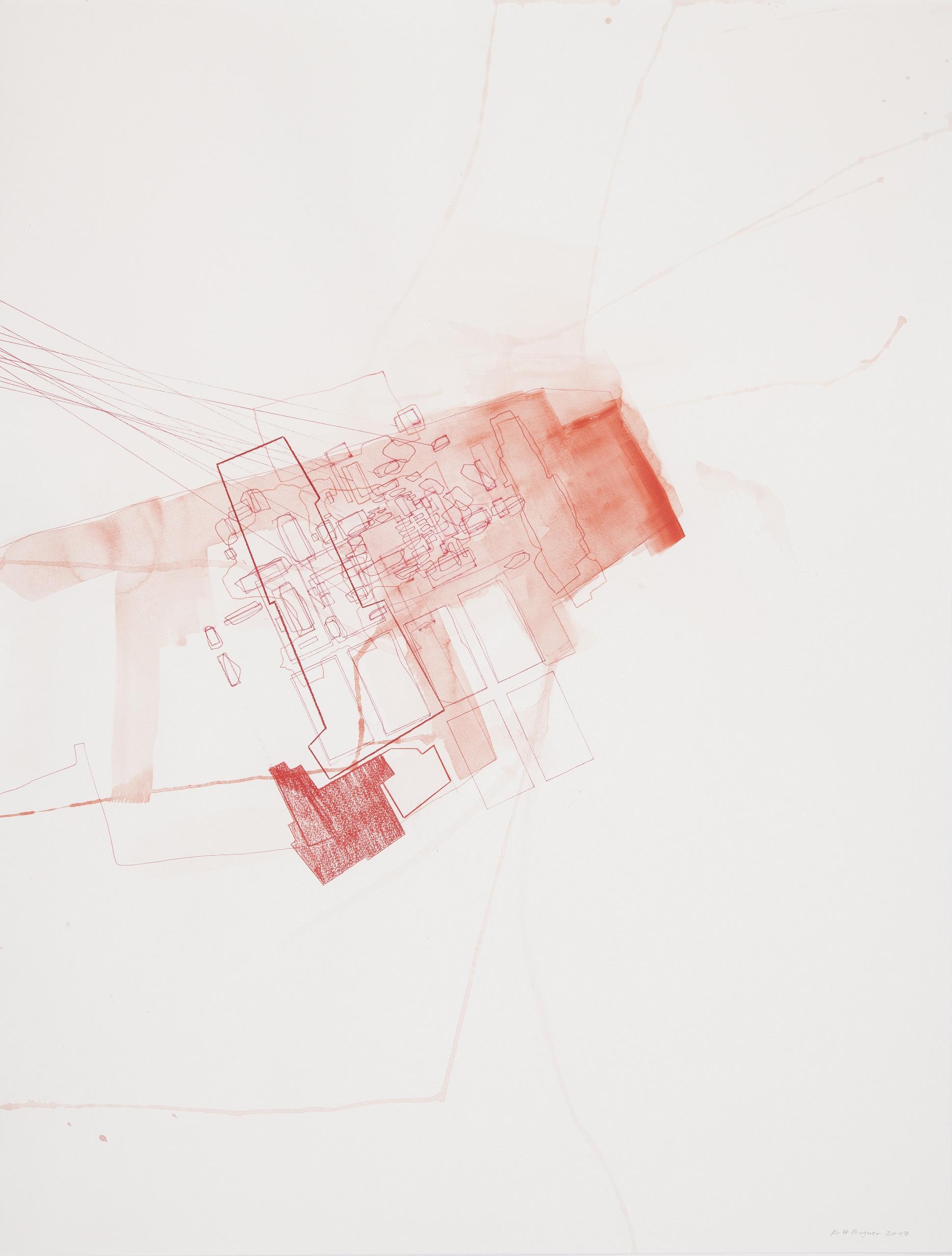 Karl-Heinz Bogner, Ohne Titel, 2017, Mischtechnik auf Papier, 84 x 64 cm