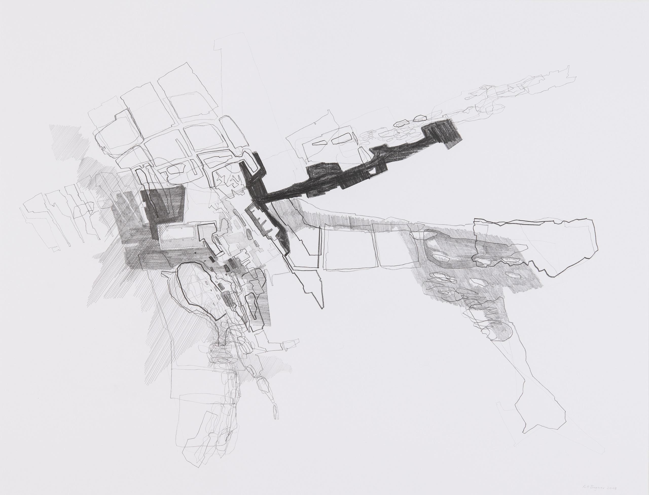 Karl-Heinz Bogner, Ohne Titel, 2019, Graphit auf Papier, 64 x 84 cm