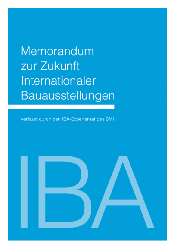 Cover Memorandum zur Zukunft Internationaler Bauausstellungen