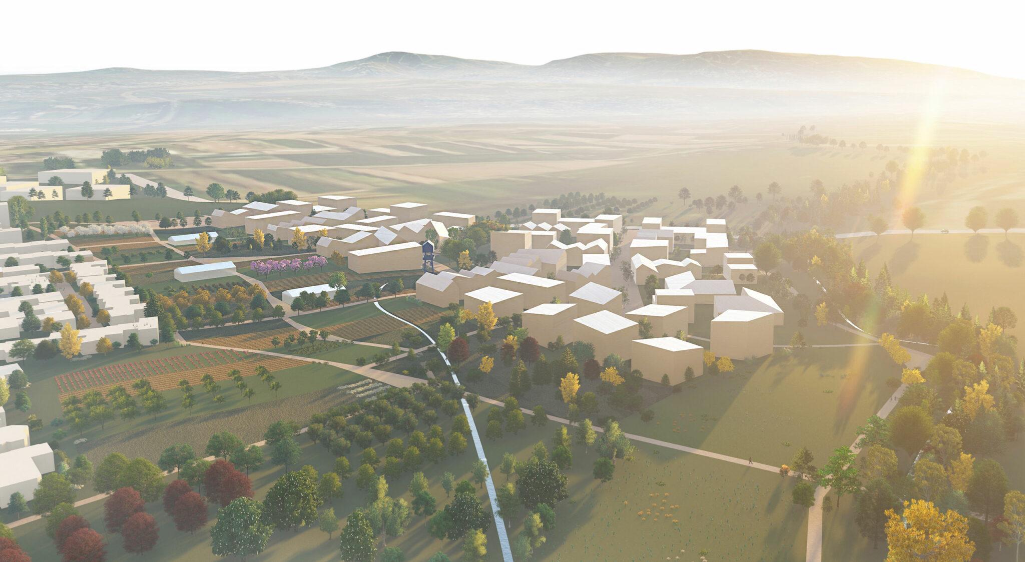 Städtebau-Entwurf zum IBA'27-Projekt Hangweide (Bild/Entwurf: UTA Architekten und Stadtplaner / SIMA | BREER Landschaftsarchitektur)