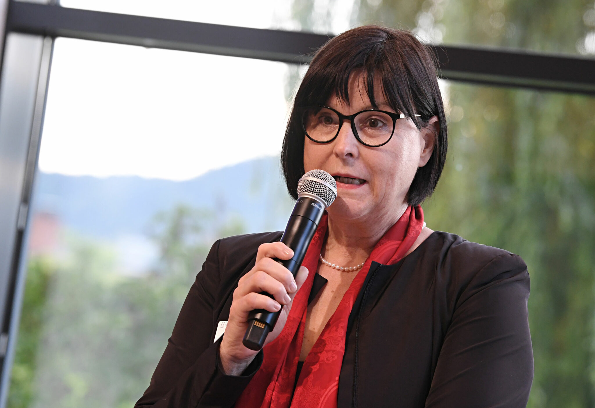 Karin Lang, Kaufmännische Geschäftsführerin der IBA'27 GmbH, bei der Gründungsveranstaltung der IBA'27 Friends e.V. (Bild: IBA'27 / F. Kraufmann)