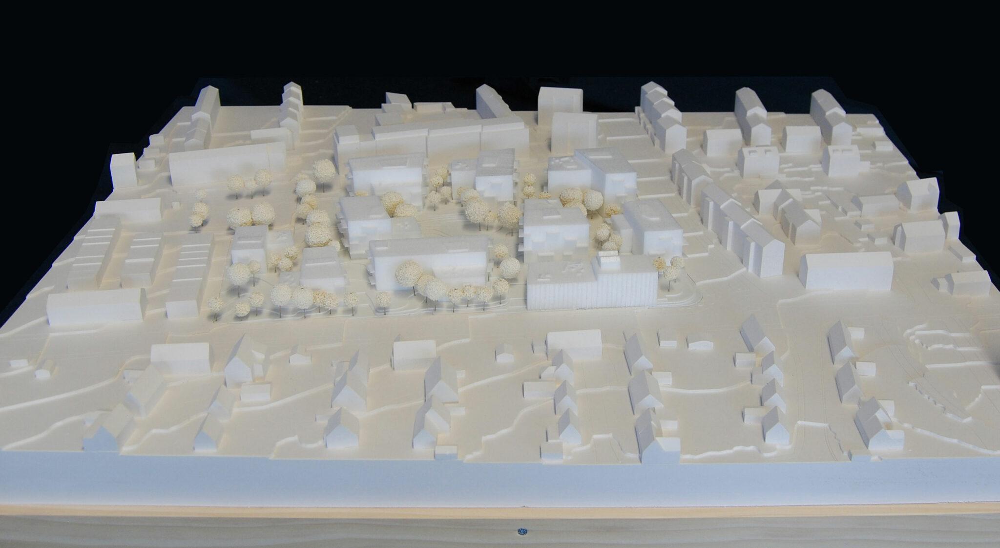 Modell zum Entwurf »Am Rotweg«
