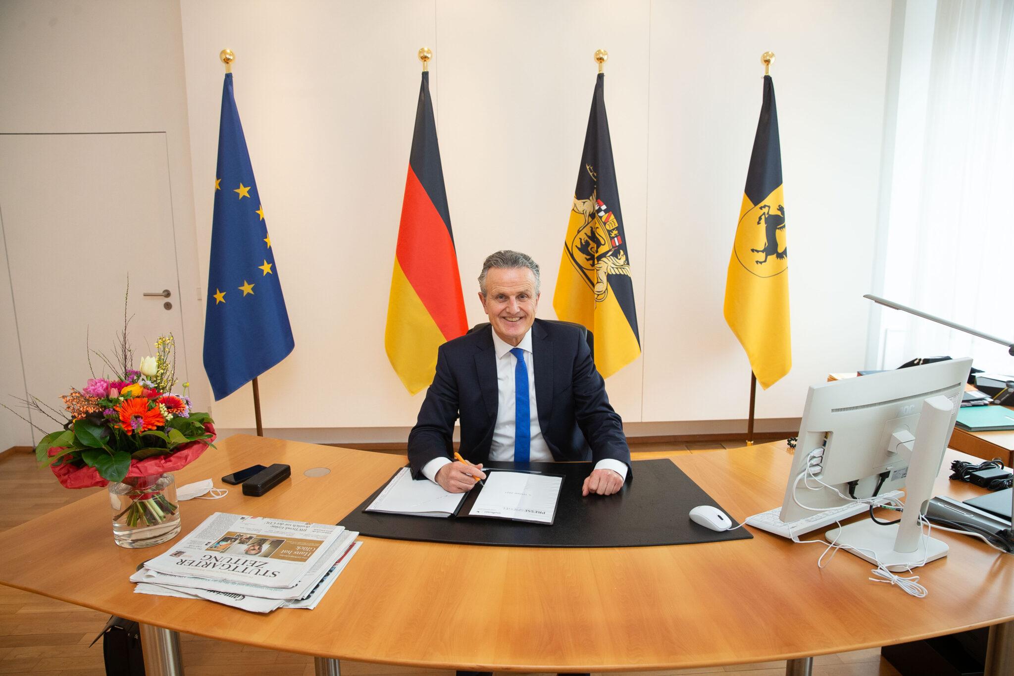 Der neue Oberbürgermeister der Landeshauptstadt Stuttgart Dr. Frank Nopper ist seit dem 19.03.21 offiziell Aufsichtsratsvorsitzender der IBA'27. Bild: Landeshauptstadt Stuttgart / Leif Piechowski