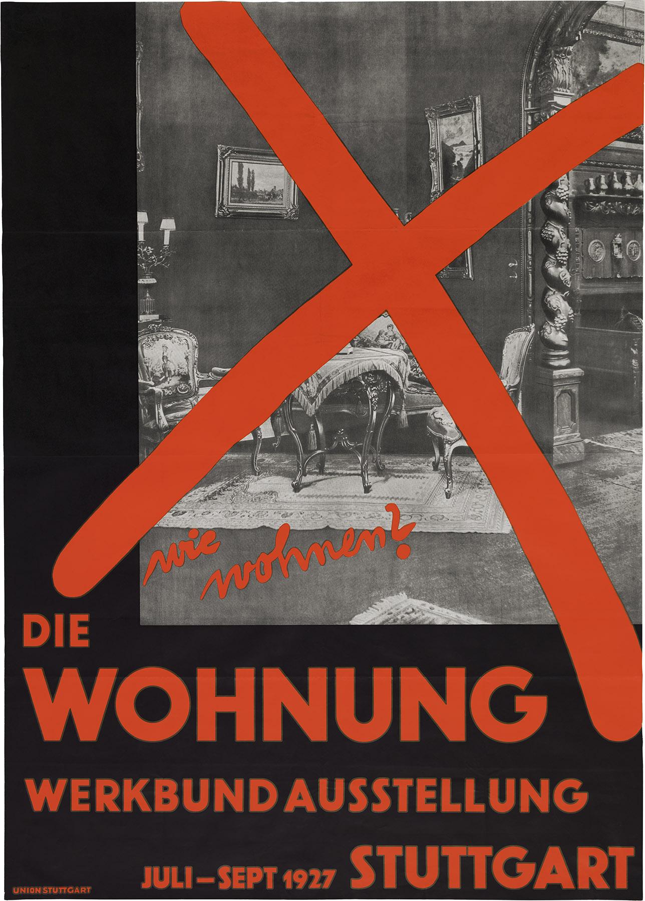 Plakat von Willi Baumeister zur Werkbundausstellung in Stuttgart 1927 (Bild: CC BY-NC-SA 3.0, Willi Baumeister Stiftung)