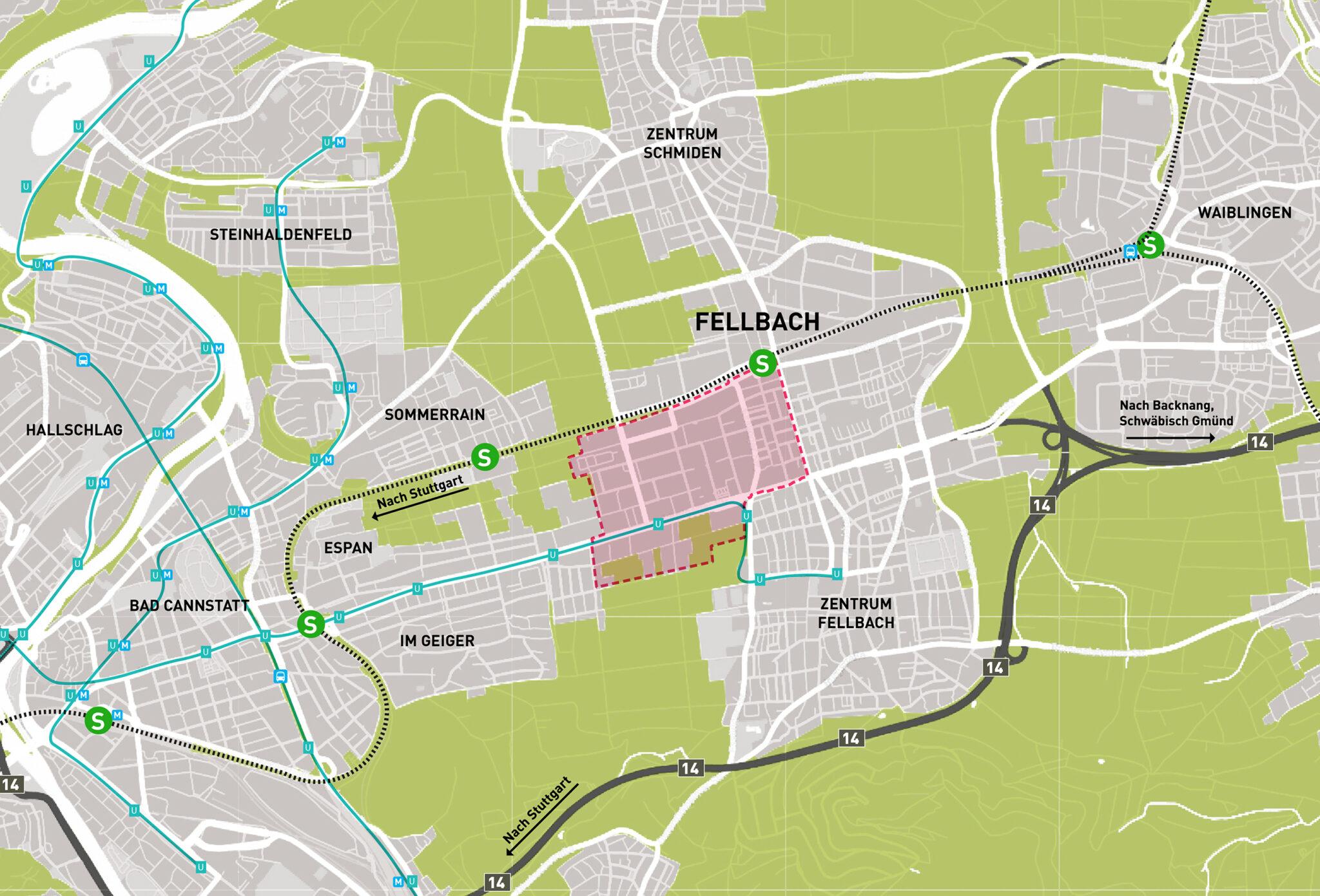 Projektgebiet Fellbach