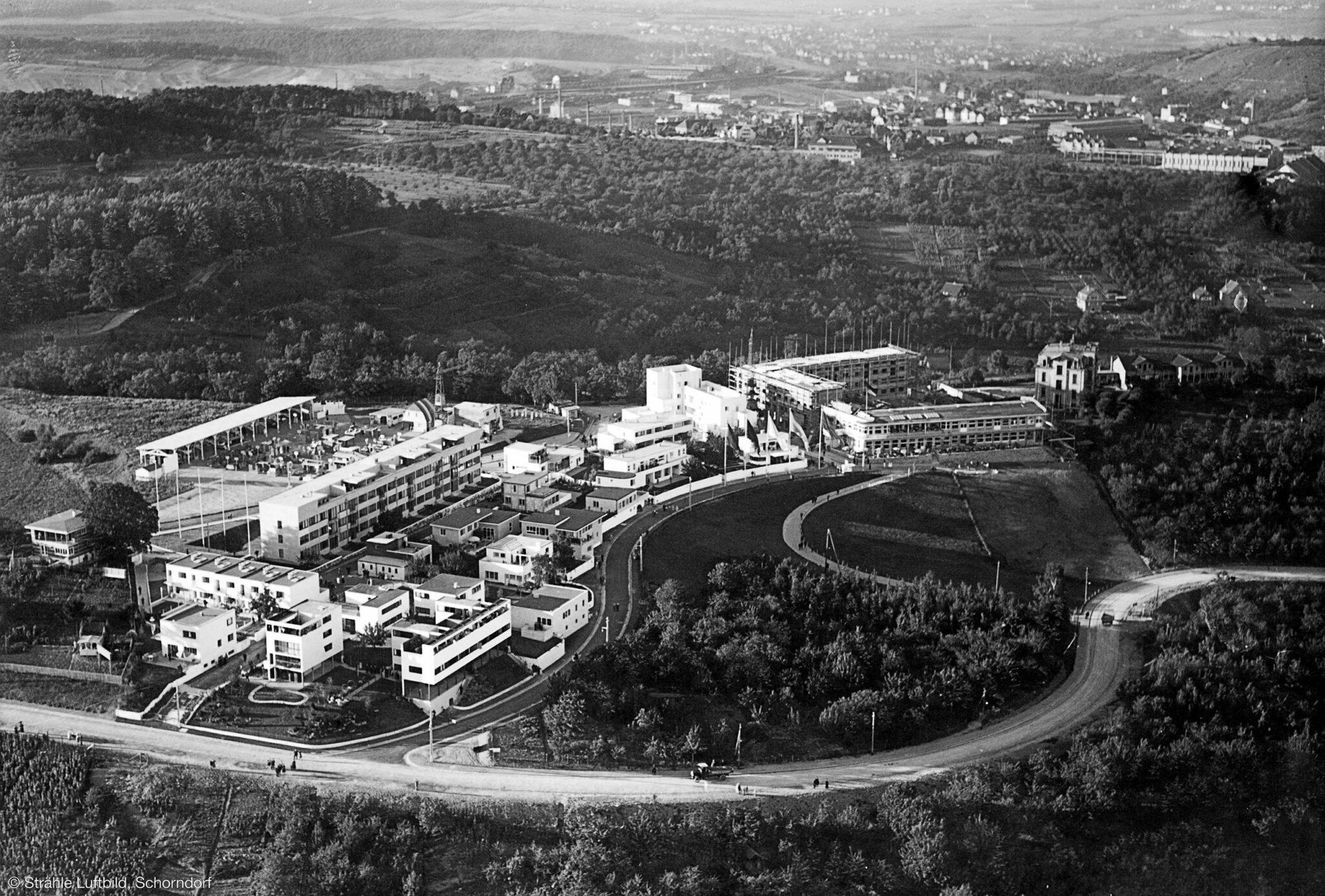 Weissenhofsiedlung 1927 (Bild: Strähle-Luftbild, Schorndorf)