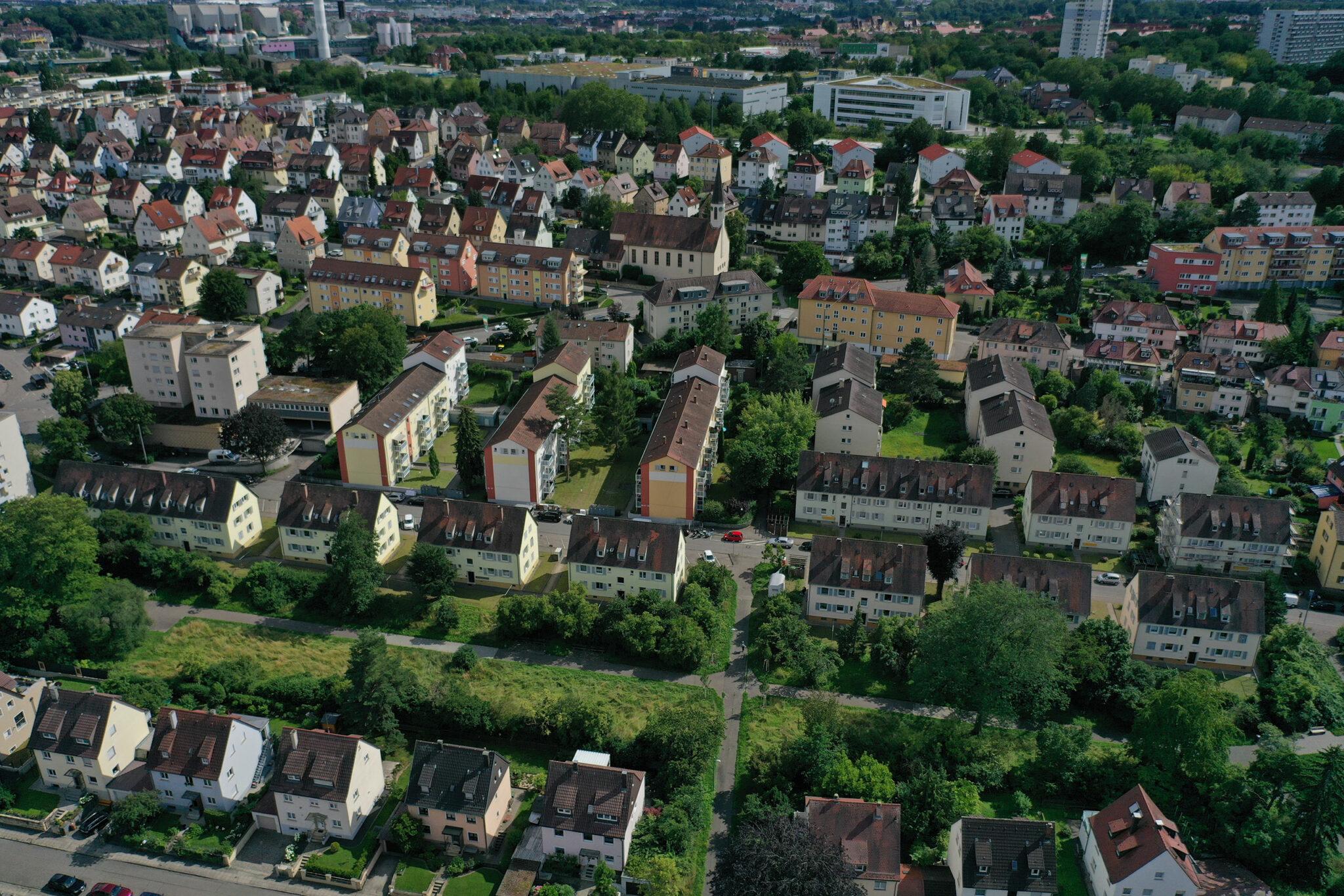 Zukunft Münster 2050: Luftbild des Projektgebiets (Bild: BGM / Stadtberatung Dr. Sven Fries)
