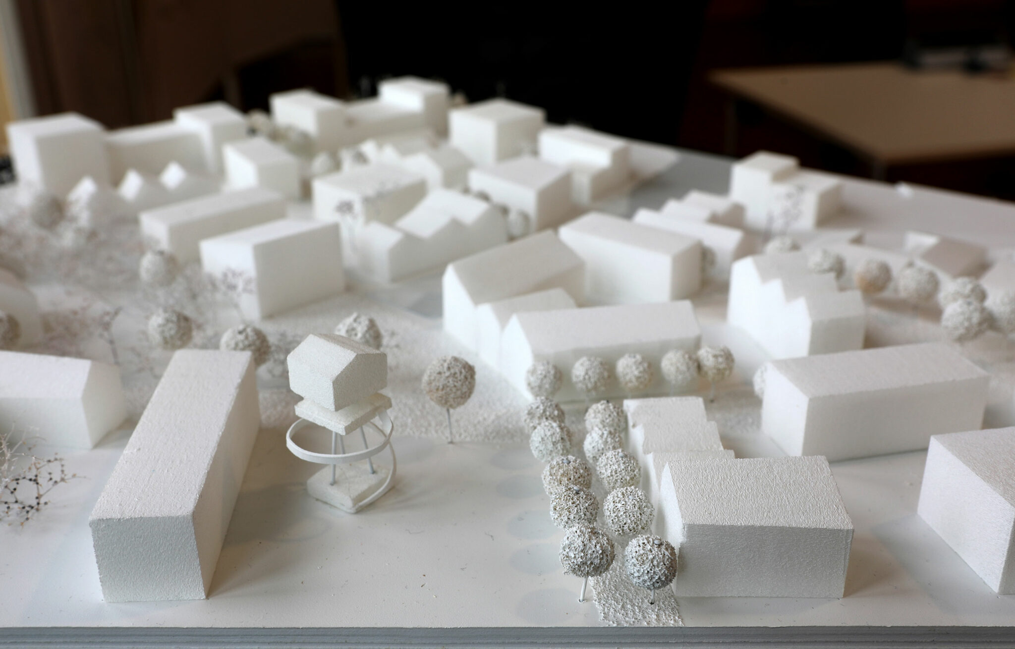 Modell des städtebaulichen Entwurfs für die Hangweide / Kernen im Remstal (Entwurf: UTA / Sima | Breer; Bild: Alexandra Palmizi)