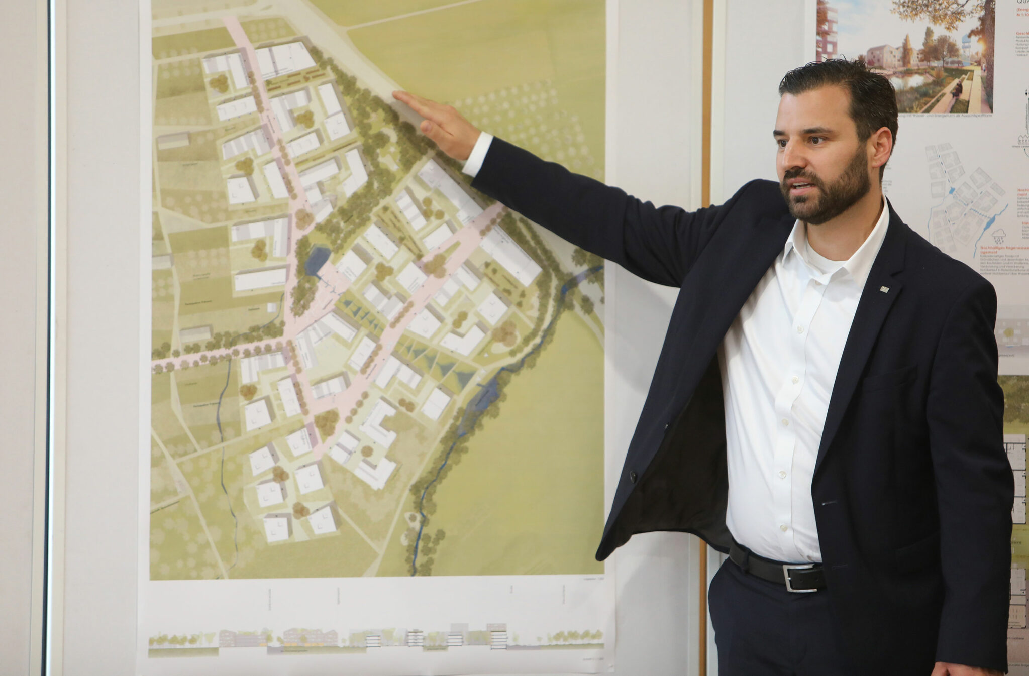 Vorstellung des städtebaulichen Entwurfs für die Hangweide / Kernen im Remstal (Bild: Alexandra Palmizi)