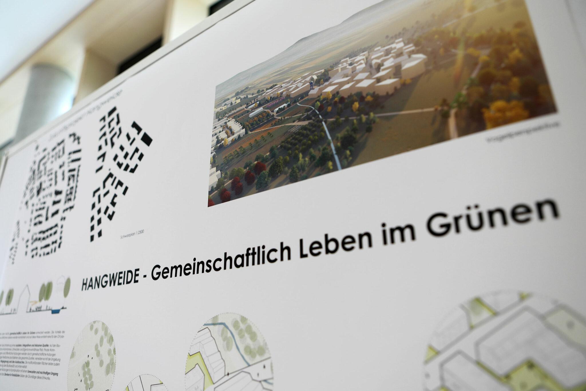 Städtebaulicher Entwurf für die Hangweide / Kernen im Remstal (UTA / Sima | Breer; Bild: Alexandra Palmizi)